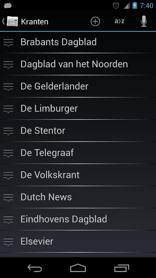 Nederlandse Kranten- screenshot