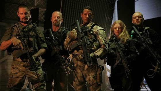 Josh Holloway, Max Martini, Terrence Howard, Mireille Enos and Sam Worthington in Sabotage
