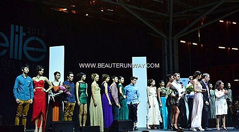 Elite Models Look Singapore 2012 Finalists Winners Iris Minier, Head Model Movement Elite Model Management World Mr Eric Ceret, Director of EML Singapore Watson Tan Upfront Models Motiv8 Jessica Tan Miss Universe 2007