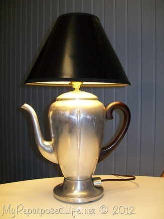 vintage coffee pot lamp