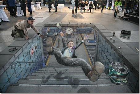 Accident Railway Station. Zurich, Switzerland-3D paintings