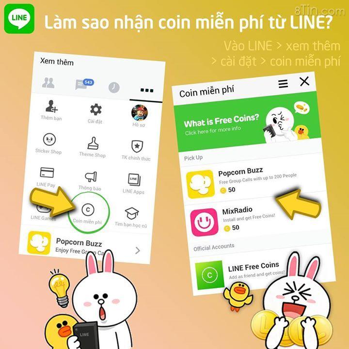 [Tip] Làm cách nào để mua coin tại LINE? :D Có 2