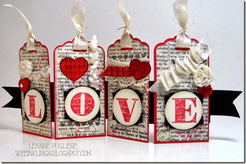 LeAnne Pugliese WeeInklings Love Banner Stampin UP