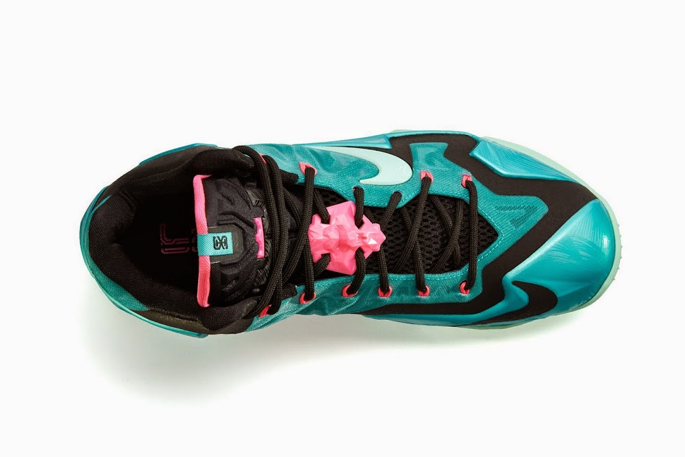 best website 8cab8 eee76 ... NIKE LEBRON 11 South Beach Remixes Past With Present