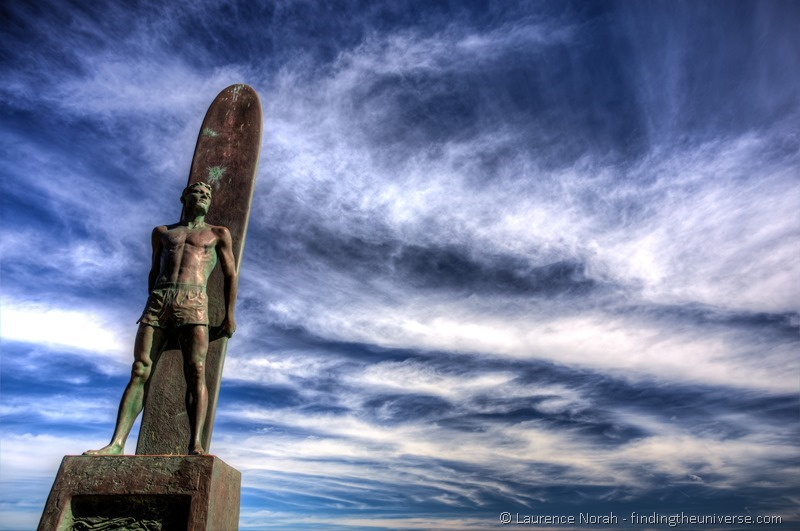 surfer statue santa cruz california