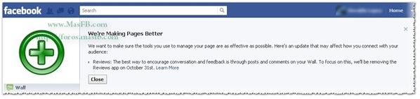 Segun Facebook, esto es para mejor :)