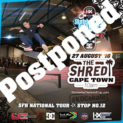 This Saturdays scheduled Skateboarding For Hope event at The Shred has been