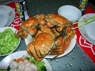 Crabes à Shanghai