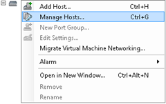 VMware Networking - Manage Hosts