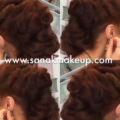 wwwsanakmakeupcom updo for client at a wedding hairup texturedhair texture hair hairupdo
