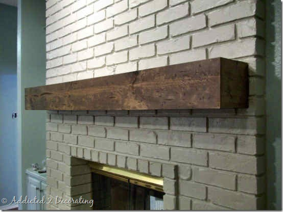 rough hewn wood mantel 5