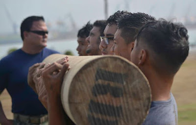 The Navy SEAL SWCC Scout Team works out athletes from Bonita Vista