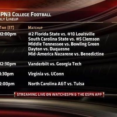 What a day to be a college football fan 30 games coming