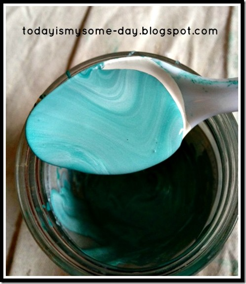 custom mixed chalk paint color