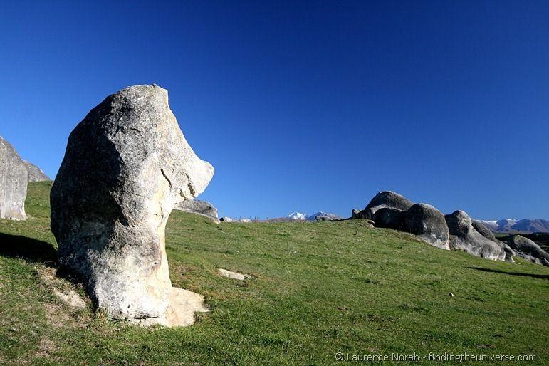 Elephant Rocks boulder field sky