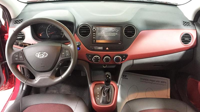 Nội thất xe ô tô Hyundai Grand i10 Nhập Khẩu màu trắng 01