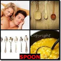 SPOON- 4 Pics 1 Word Answers 3 Letters