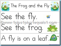 Pocket Chart Printables The Frog and the Fly
