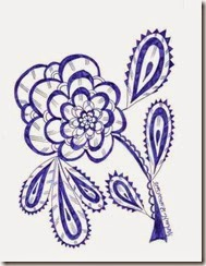 258 Flower Zentangle