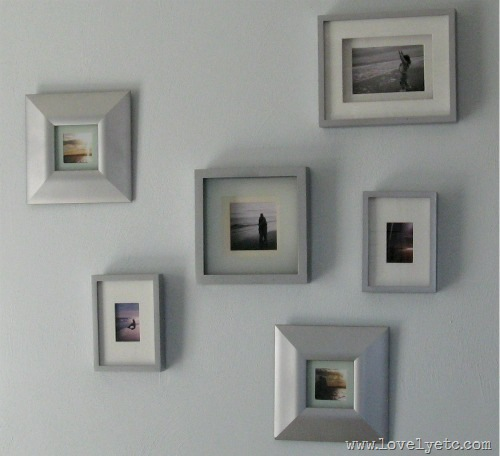 silver gallery wall