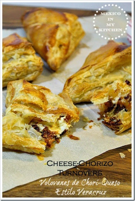 Cheese and Chorizo Turnovers Recipe | Mexican Recipes