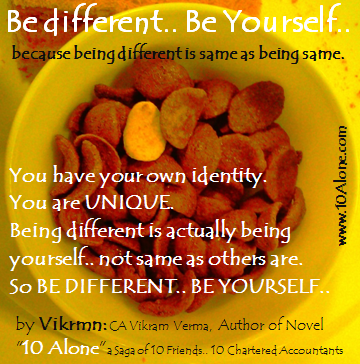 10 Alone quote by Vikrmn Be different Be yourself CA Vikram Verma.png