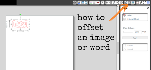 how to offset an image or word #spon