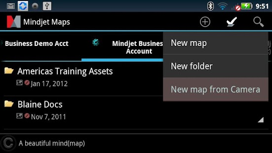 Mindjet Maps for Android- screenshot thumbnail