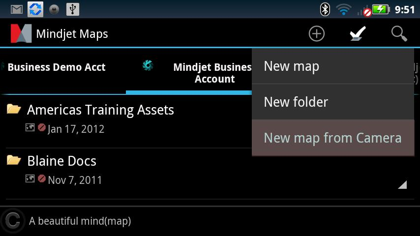 Mindjet Maps for Android- screenshot