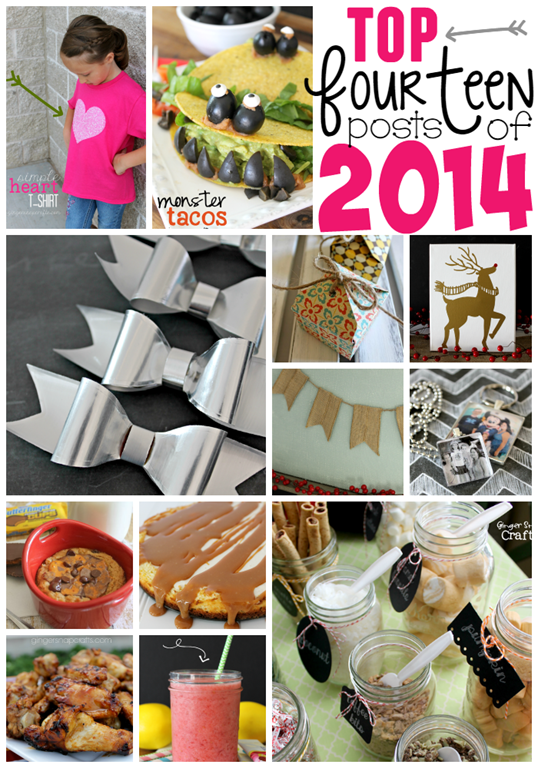 Top 14 Posts of 2014 at GingerSnapCrafts.com #bestof2014 #blogger