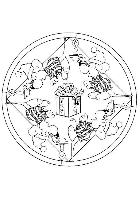 Coloriage Mandala Noel.Mandala For Children