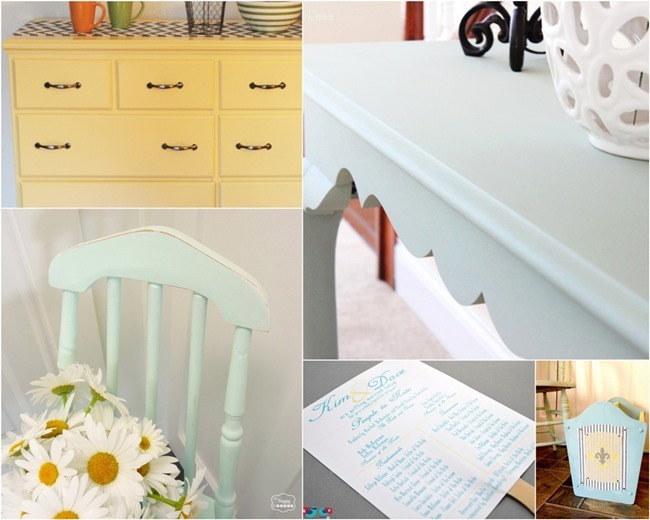 Inspiration Pinboard blue & yellow via homework