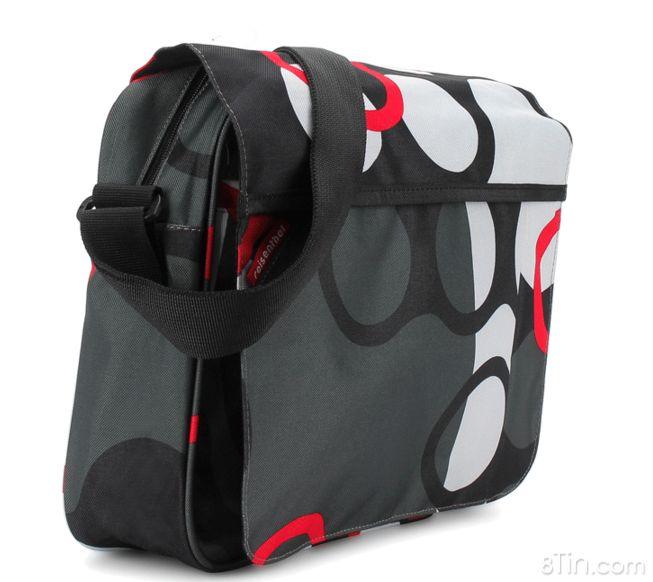 Combo Túi đeo chéo + túi đựng bút vải màu sắc rực