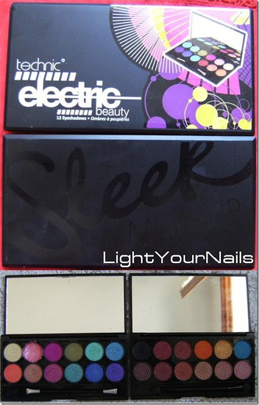 comparison Technic Electric beauty vs Sleek eyeshadow palettes
