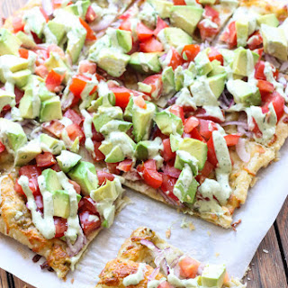 Skinny Avocado Pizza