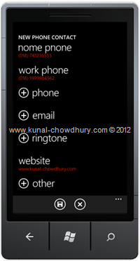 Image 2: How to Save Contact in WP7 using the SaveContactTask?