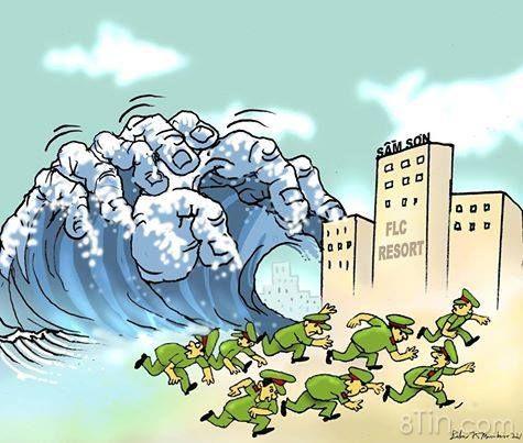 Biển Sầm Sơn dậy sóng Ảnh: Babui Dân Làm Báo