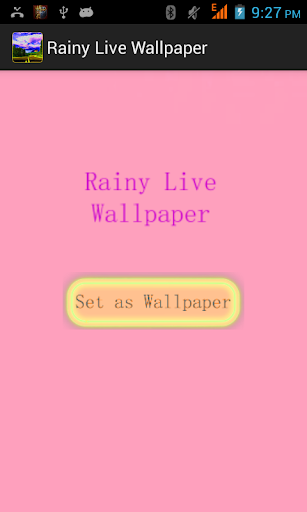 Rainy Live Wallpaper