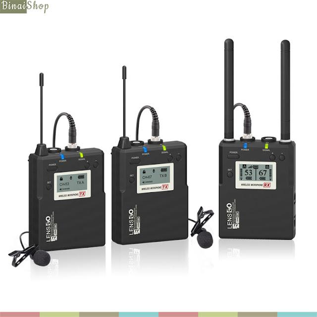 Lensgo LWM-338C - Micro Không Dây Sóng UHF