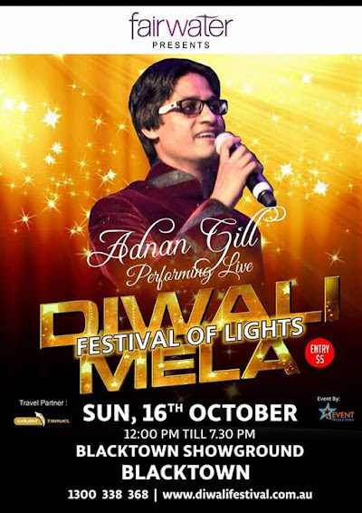 Adnan Gill Will rock the Stage at Diwali Mela on 16th Oct