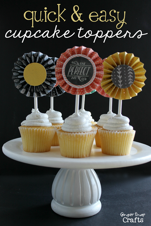quick & easy cupcake toppers at GingerSnapCrafts.com _thumb[3]