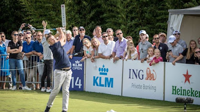Trillende handen op hole 14 van het KLM Open