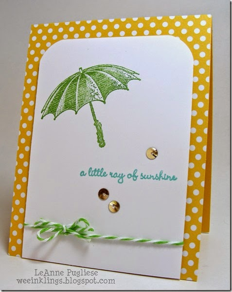 LeAnne Pugliese WeeInklings Little Ray of Sunshine Stampin