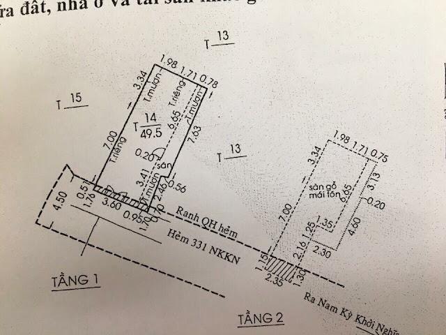 Đất thổ cư hẻm một sẹc Nam Kỳ Khởi Nghĩa phường 7 Quận 3 03