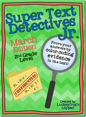 Luckeyfrog's Lilypad- Text Detectives JR- March Sampler
