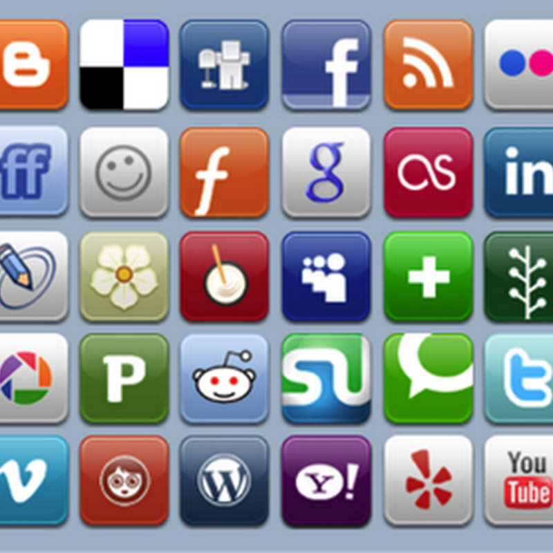 125+ Best Free Social Media Icons Buttons (Chapter VI).