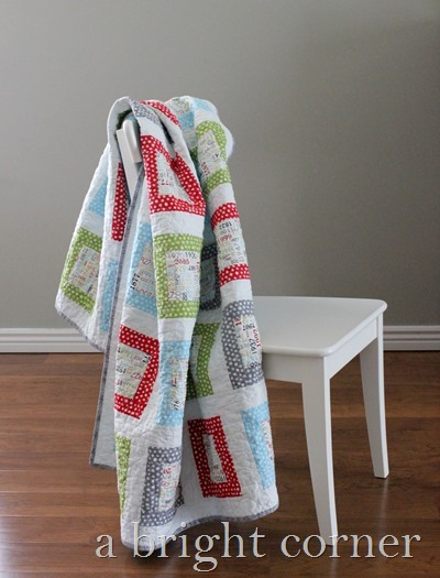fun and bright throw quilt