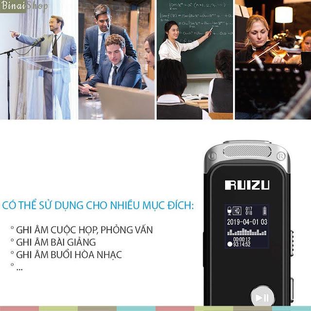 Ruizu K69 - Máy Ghi Âm Stereo
