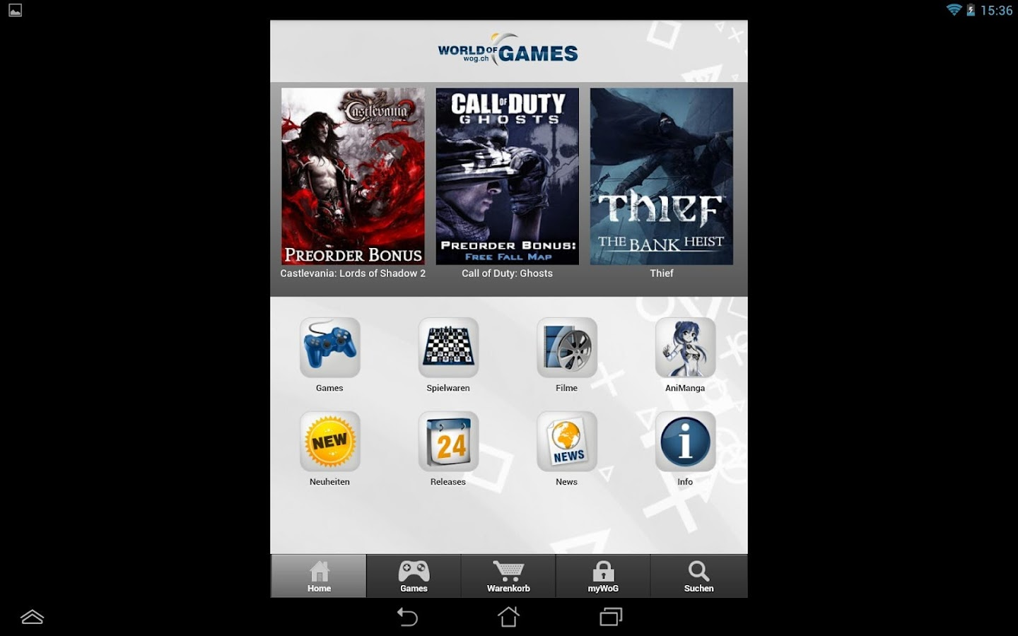 WoG Game Shop - screenshot