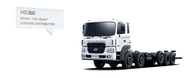 Xe tải HD360 Hyundai chassi